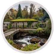 The Old Mill Round Beach Towel by Adrian Evans