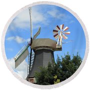 The Old Mill Round Beach Towel