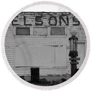 The Old Nelsons Station Round Beach Towel