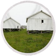 The Old Pierce Point Ranch At Foggy Point Reyes California 5d28140 Round Beach Towel