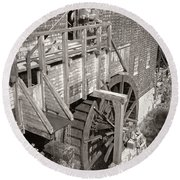 The Old Saw Mill Round Beach Towel