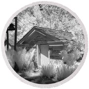 The Old Spring House Round Beach Towel