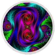 The Old Stuffed Chair - Fractal Round Beach Towel