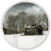 The Old Sugar Shack Round Beach Towel
