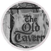 The Old Tavern Round Beach Towel