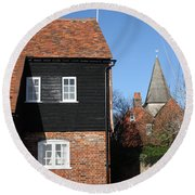 The Old Water Mill Bosham Round Beach Towel