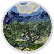 The Olive Tree Round Beach Towel