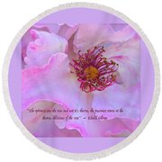 The Optimist Sees The Rose Round Beach Towel