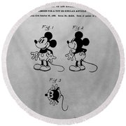 The Original Mickey Mouse Patent Design Round Beach Towel