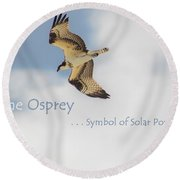 The Osprey Round Beach Towel