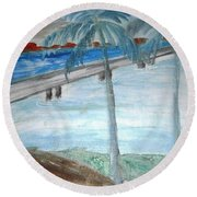The Other Side Round Beach Towel