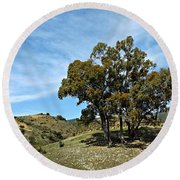 The Other Side Of Spain Round Beach Towel