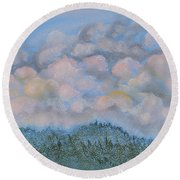 The Other Side Of The Sunset Round Beach Towel