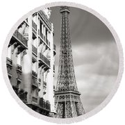 The Other View Of The Eiffel Tower Round Beach Towel