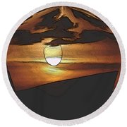 The Other World Round Beach Towel