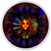 The Outer Limits  Round Beach Towel