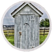 The Outhouse - 2 Round Beach Towel
