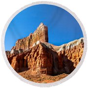The Outpost Rock Round Beach Towel
