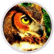 The Owl's Eye Round Beach Towel