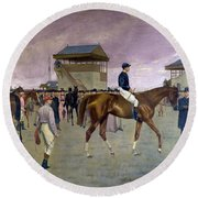 The Owner S Enclosure Newmarket Round Beach Towel by Isaac Cullen
