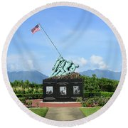 The Pacific War Memorial On Marine Round Beach Towel