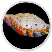 The Painted Calzone Round Beach Towel