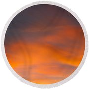 The Painted Evening Sky Round Beach Towel