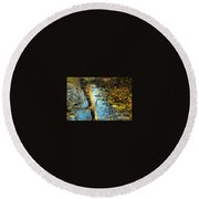 The Painter's Dream Round Beach Towel by Tami Quigley