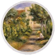 The Painters Garden, Cagnes, C.1908 Round Beach Towel