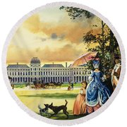 The Palace Of The Tuileries Round Beach Towel by Andrew Howat