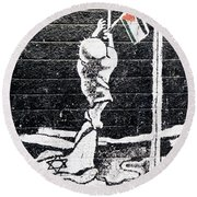 The Palestinian Flag Round Beach Towel
