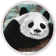The Panda Round Beach Towel