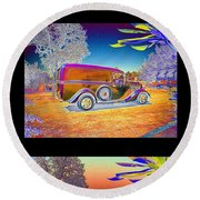The Panel - Collage Round Beach Towel