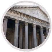 The Pantheon Rome Round Beach Towel