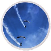 The Parachutists V5 Round Beach Towel