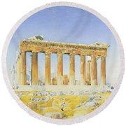 The Parthenon Round Beach Towel