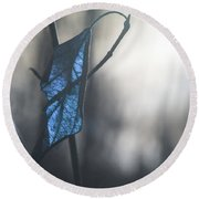 The Past Presents  Round Beach Towel