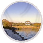 The Path That Leads To Home Round Beach Towel