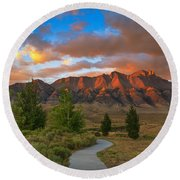 The Path To Beauty Round Beach Towel by Robert Bales