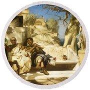 The Patrician's Siesta Round Beach Towel