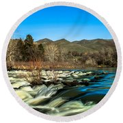 The Payette River Round Beach Towel