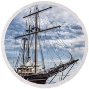 The Peacemaker Tall Ship Round Beach Towel