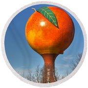 The Peach Round Beach Towel