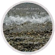 The Pebbled Shore 2 Round Beach Towel