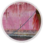 The Peggy Palmer Barge Round Beach Towel