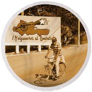 The People Of Holguin Are Fighters Round Beach Towel