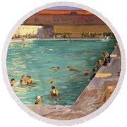 The Peoples Pool, Palm Beach, 1927 Round Beach Towel