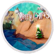 The Perfect Christmas Tree Round Beach Towel
