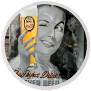 The Perfect Drink Round Beach Towel