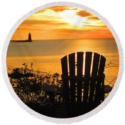New Castle New Hampshire  Round Beach Towel